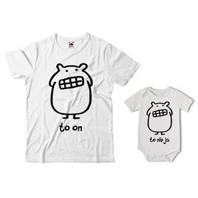 Komplet koszulka dla Taty + body 14