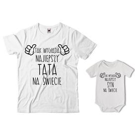 Komplet koszulka dla Taty + body 21