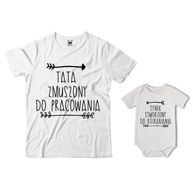 Komplet koszulka dla Taty + body 22