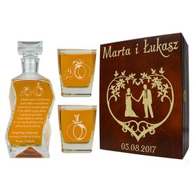 Pudełko, karafka i 2 szklanki na Ślub 03