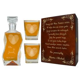 Pudełko, karafka i 2 szklanki na Ślub 06