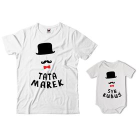 Komplet koszulka dla Taty + body 26