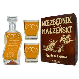 Pudełko, karafka i 2 szklanki na Ślub 07