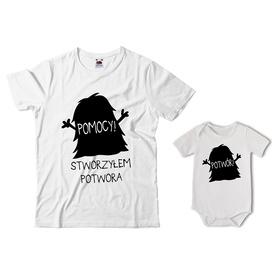 Komplet koszulka dla Taty + body 27