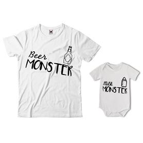 Komplet koszulka dla Taty + body 34
