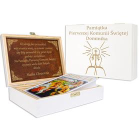 Pudełko białe z Biblią na Komunię 07