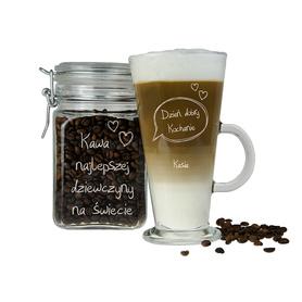 Słoik i szklanka latte dla Dziewczyny 01