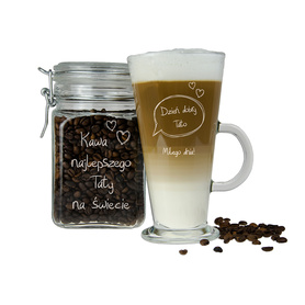 Słoik i szklanka latte dla Taty 01