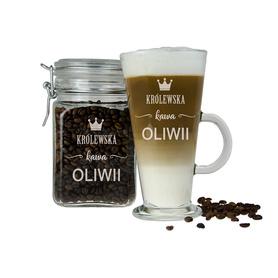 Słoik i szklanka latte dla Dziewczyny 03
