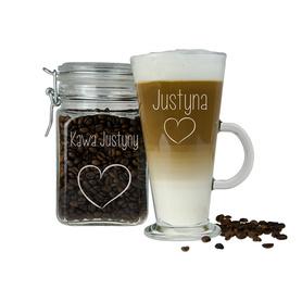 Słoik i szklanka latte dla Dziewczyny 08