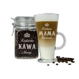 Słoik i szklanka latte dla Mamy 06