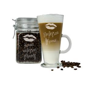 Słoik i szklanka latte dla Mamy 07