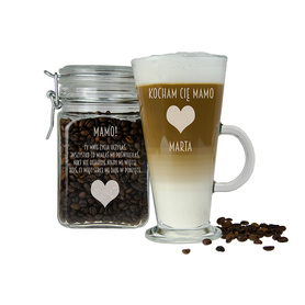 Słoik i szklanka latte dla Mamy 08