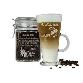 Słoik i szklanka latte dla Mamy 09