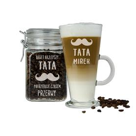 Słoik i szklanka latte dla Taty 09