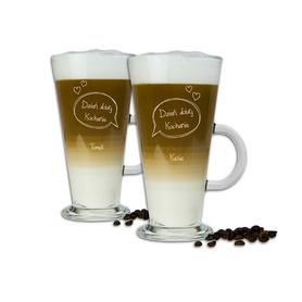 Komplet szklanek latte dla Pary 01