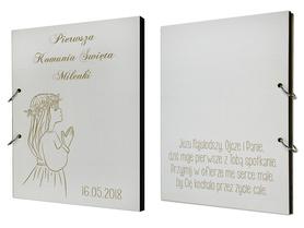 Album biały na Komunię 01