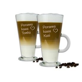 Komplet szklanek latte dla Pary 02