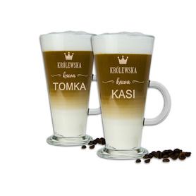 Komplet szklanek latte dla Pary 03
