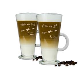 Komplet szklanek latte dla Pary 04