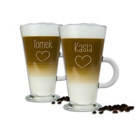 Komplet szklanek latte dla Pary 05