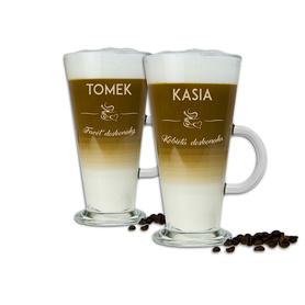 Komplet szklanek latte dla Pary 06