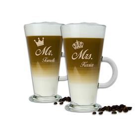 Komplet szklanek latte dla Pary 07