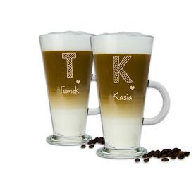 Komplet szklanek latte dla Pary 09
