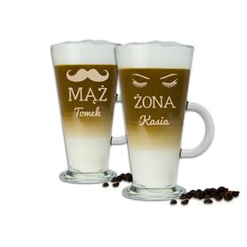 Komplet szklanek latte dla Pary 10
