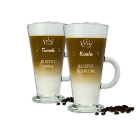 Komplet szklanek latte dla Pary 12