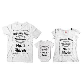 Komplet koszulek dla rodziców + body 12