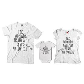 Komplet koszulek dla rodziców + body 15