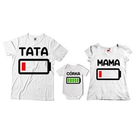 Komplet koszulek dla rodziców + body 23