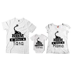 Komplet koszulek dla rodziców + body 24