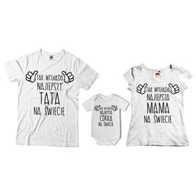 Komplet koszulek dla rodziców + body 25