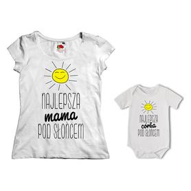 Komplet koszulka dla Mamy + body 09