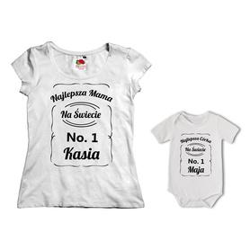 Komplet koszulka dla Mamy + body 18