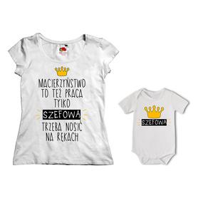 Komplet koszulka dla Mamy + body 22