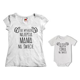 Komplet koszulka dla Mamy + body 23