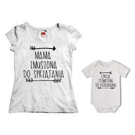 Komplet koszulka dla Mamy + body 24