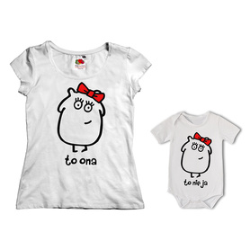 Komplet koszulka dla Mamy + body 30