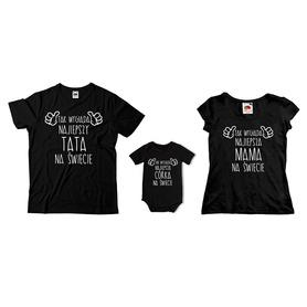 Komplet koszulek dla rodziców + body C06
