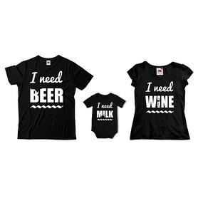 Komplet koszulek dla rodziców + body C12