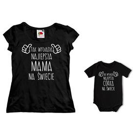 Komplet koszulka dla Mamy + body C08