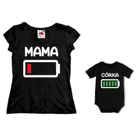 Komplet koszulka dla Mamy + body C09