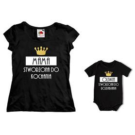 Komplet koszulka dla Mamy + body C10