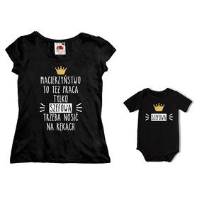 Komplet koszulka dla Mamy + body C18