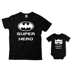 Komplet koszulka dla Taty + body C04