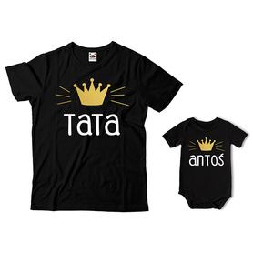 Komplet koszulka dla Taty + body C07