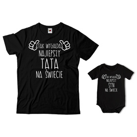 Komplet koszulka dla Taty + body C08